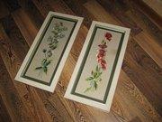 Старинные картины - вышивки (пара),  50-55лет.
