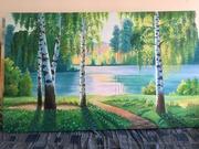 Живопись ручной работы на масляном краске на холсте
