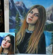 Портреты по фото ручной работы живопись